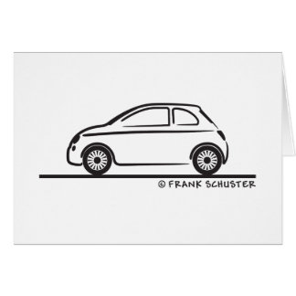 New Fiat 500 Cinquecento Card