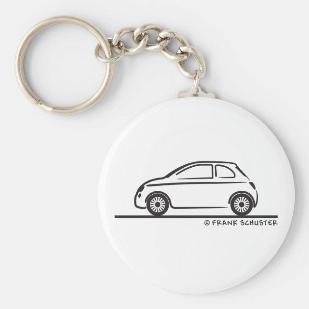 New Fiat 500 Cinquecento Keychain