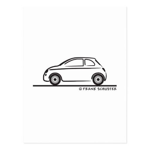New Fiat 500 Cinquecento Postcard Zazzle