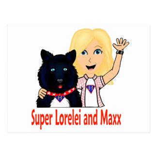 New Fictional Heroes Super Lorelei and Maxx Postcard