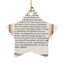 New Fighters Creed.jpg Ceramic Ornament