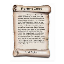 New Fighters Creed.jpg Postcard