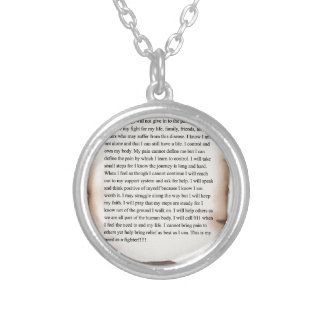 New Fighters Creed.jpg Round Pendant Necklace
