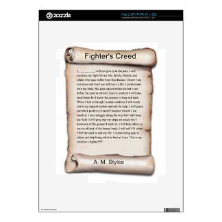 New Fighters Creed.jpg Skin For iPad 2