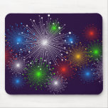 New Fireworks Cute Girly Vector Mouse Pad