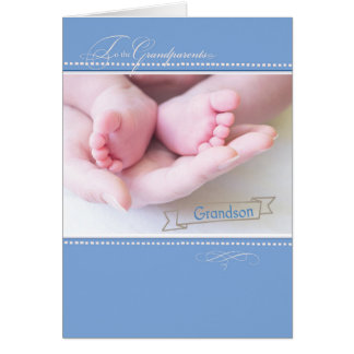 New First Grandparents, Grandson, Congratulations Card