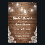 """(New Font) Mason Jars Lights Rustic Bridal Shower Card<br><div class=""""desc"""">============= NEW FONT VERSION ============= Mason Jars Lights Rustic Wood Lace Bridal Shower Invitation Template. (1) For further customization, please click the &quot;customize further&quot; link and use our design tool to modify this template. (2) If you prefer Thicker papers / Matte Finish, you may consider to choose the Matte Paper...</div>"""