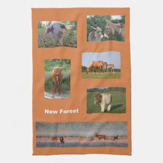 New Forest animals kitchen towel