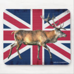 New Forest Deer Stag on Union Flag Mousemat Mousepad