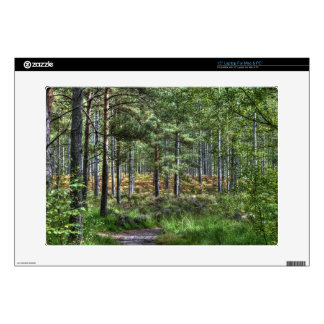 "New Forest Hampshire England Forest Scene Decal For 15"" Laptop"