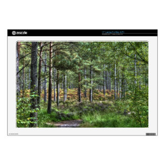 "New Forest Hampshire England Forest Scene Decal For 17"" Laptop"