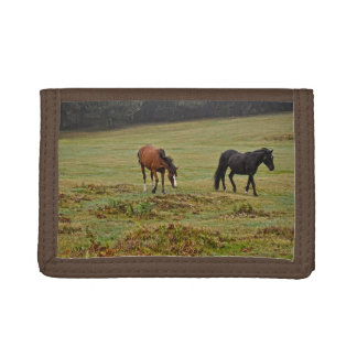 New Forest Ponies of Hampshire England Tri-fold Wallet
