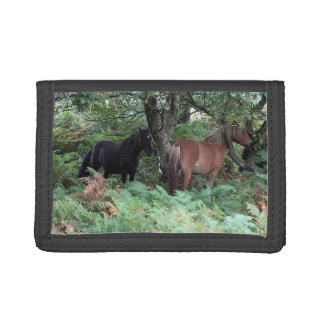 New Forest Ponies of Hampshire England Trifold Wallets
