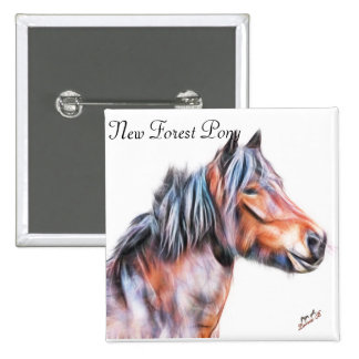 New Forest Pony badge Pinback Button