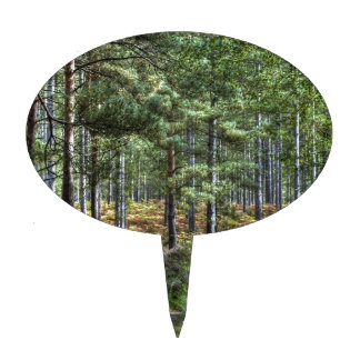 New Forest Woodland Trees Nature Scene Cake Topper