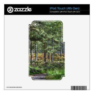 New Forest Woodland Trees Nature Scene Decals For iPod Touch 4G