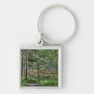 New Forest Woodland Trees Nature Scene Keychain