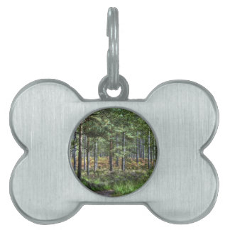 New Forest Woodland Trees Nature Scene Pet ID Tag