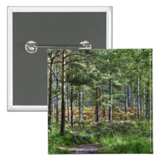 New Forest Woodland Trees Nature Scene Pinback Button