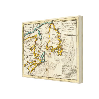 New Found Land, St Laurence Bay, Acadia Canvas Print