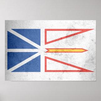 NEW FOUNDLAND Flag Poster