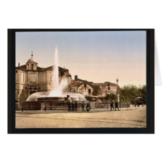 New Fountain and Diocletian's Spring, Rome, Italy Greeting Cards