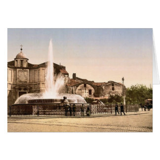 New Fountain and Diocletian's Spring, Rome, Italy Card