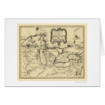 New France Canada Map 1755 Greeting Card