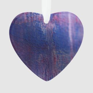New fresh Winter acrylic Heart / Purple Ornament