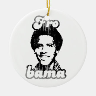 New Frobama white Vintage.png Double-Sided Ceramic Round Christmas Ornament
