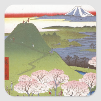 """New Fuji"" Hiroshige Square Sticker"