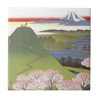 """New Fuji"" Hiroshige Tile"