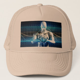 New Future Technology within Palm of Your Hand Trucker Hat
