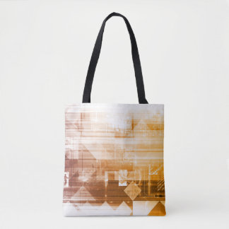 New Futuristic Technology On a White Background Tote Bag