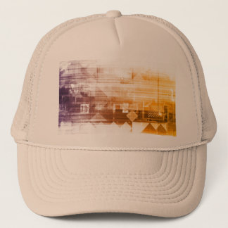 New Futuristic Technology On a White Background Trucker Hat