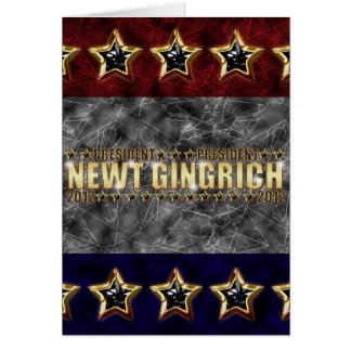 New Gingrich Stars and Stripes Card