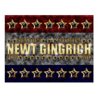 New Gingrich Stars and Stripes Postcard