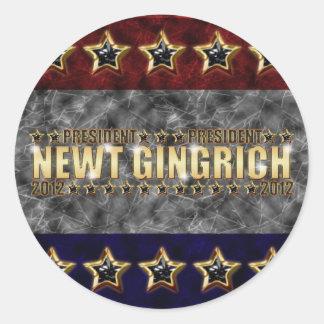 New Gingrich Stars and Stripes Round Sticker