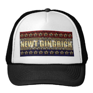 New Gingrich Stars and Stripes Trucker Hat