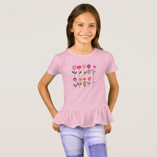 New girls fashion with hand-drawn Art T-Shirt