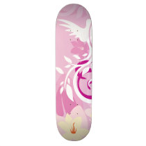 "New Girls Pink Graphics 8½"" Custom Skateboard"