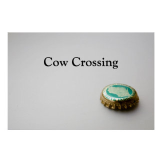 New Glarus, Cow Crossing Poster