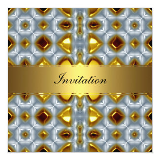 New Gold Birthday Invitation 3 Personalized Invite
