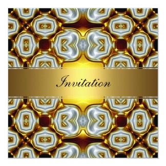 New Gold Birthday Invitation 6 Custom Announcements