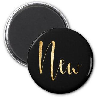 """New"" Gold Black Week Planner Home Office Glam Magnet"