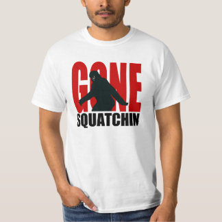 NEW! Gone Squatchin Bigfoot Tee in Black & Red