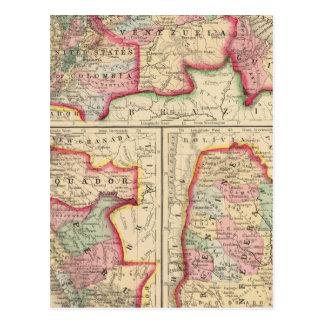 New Granada, Venezuela, Guiana Map by Mitchell Postcard