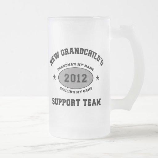 New Grandchild 2012 16 Oz Frosted Glass Beer Mug