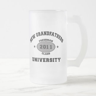 New Grandfather 2011 Frosted Glass Beer Mug