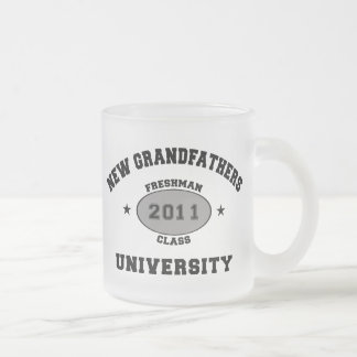 New Grandfather 2011 Frosted Glass Coffee Mug